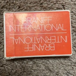 VTG 1960s Playing Cards Braniff International